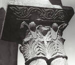 Eunate, Church of St. Mary, abstracted double Corinthian capital, Romanesque, 12th century, Navarre, Spain