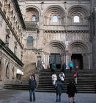 Santiago de Compostela, south facade, Praza das Praterias, 12th century with 17th-century additions