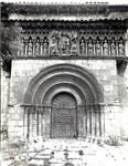 Moarves de Ojeda, Church of San Juan. facade portal,  Romanesque, early 12th century. Palencia, Spain
