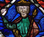 King David (detail), Tree of Jesse, Le Mans Cathedral