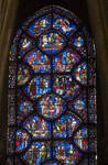 St. Sylvester (aka Silvestre) Window, Bay 8, East Ambulatory, Chartres Cathedral