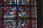 Rouen Cathedral, St. Vincent Window, north aisle, top roundel