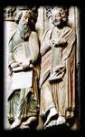 Santiago de Compostela, Jamb Figures, Prophets with Scrolls (Daniel on right), Portico della Gloria