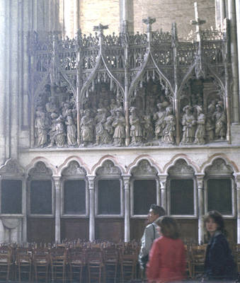 Amiens Cathedral, choir screen