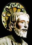 Santiago de Compostela, Portico della Gloria, Head of St. James, Trumeau figure
