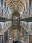 Salisbury Cathedral, View of interior towards teh East End