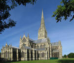 Salisbury Cathedral, exterior, view from the northeast