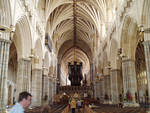 Exeter Cathedral, interior, nave looking towards the east end