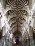Exeter Cathedral, interior, nave vaulting