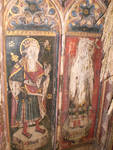 St. Thomas Becket & Edward the Confessor, detail of rood screen, St. Andrew's Church, Burlingham, Norfolk
