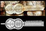 Santiago de Compostela, Portico della Gloria, Organistrum (detail)