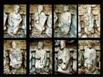 Santiago de Compostela, Portico della Gloria, Four and Twenty Elders Musicians (details)