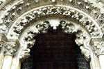Orense Cathedral, detail of portal