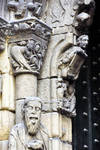 Orense Cathedral, detail of portal, jamb capitals