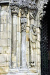 Orense Cathedral, detail of portal, jamb figure