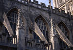 Bath Abbey, detail of south side clerestory