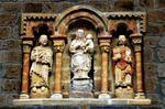 Church of Santa Maria, Piasca, Cabezon de Liebana, Virgin and Child flanked by Sts. Peter and Paul, Cantabria, Spain