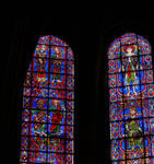 Chartres Cathedral, Bays 101-105 full lancet windows