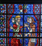Pilgrims, Chartres Cathedral stained glass