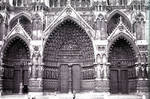 Amiens Cathedral, west facade portals by William J. Smither