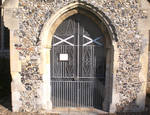 Burlingham (North, St. Andrew's Parish Church, Nofolk, UK, entrance to south porch