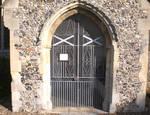 Burlingham (North, St. Andrew's Parish Church, Nofolk, UK, entrance to south porch