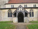 Hintlesham, Parish Church of St. Nicholas, south porch exterior