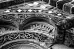 Le Puy-en-Velay, Church of St-Michel d'Aiguilhe, west facade (detail)