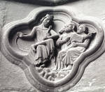 Amiens Cathedral, detail of quatrefoils under the jambs, south portal, west facade by William J. Smither