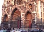 Amiens Cathedral. lower west facade