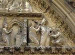 Notre Dame, Paris, north transept portal tympanum (detail)