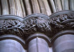 Carlisle Cathedral, pier capitals in the choir with green man and foliage.