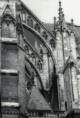 Amiens Cathedral Flying Buttresses South Side By William J Smither