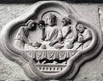 Amiens Cathedral, detail of quatrefoil under the jambs, south portal, west facade by William J. Smither