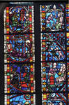 Rouen Cathedral, Les Belles verrieres windows (detail), 4th bay north aisle, nave
