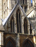 Lincoln Cathedral, south transept exterior (detail)