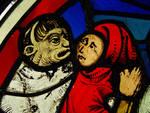 Sainte Chapelle, France, Panel, Troupeau de Job window (detail)