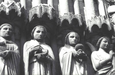 Amiens Cathedral, detail of jamb figures, south transept portal