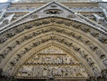 Notre Dame, Paris, north transept portal tympanum