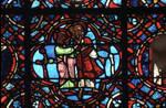 Rouen Cathedral, Good Samaritan Window (detail of center under the apex), two apostles