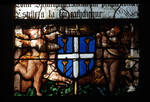 Sens Cathedral, St. Etienne (St. Stephen), Window S, 16th century, Gothic, stained glass, France.