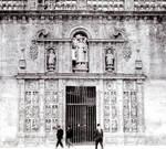 Santiago de Compostela, Puerta Santa from the Plaza de la Quintana, Galicia, Spain