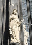 Cologne (Koln) Cathedral of St. Peter and St. Mary, jamb figure (St. Jude?), High Gothic, Cologne, Germany