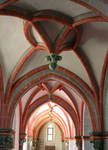 Evangelische Peterskirche, fanciful vault tracery, side aisle, Bacherach, Rhineland, c. 1230/40, with 15th century renovations