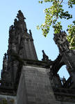 Cologne (Koln) Cathedral of St. Peter and St. Mary, detail of buttresses, High Gothic, Cologne, Germany