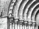 Real Monasterio de Armenteira, archivolts