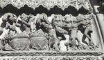 Leon Cathedral, Church of Santa Maria, Leon, Spain, The Damned, detail of central tympanum