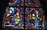 Rouen Cathedral, Sts. Peter and Paul Window, Apse, window 26, section 1, apex