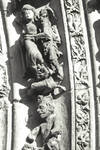 Leon Cathedral, Church of Santa Maria, Leon, Spain, detail of archivolt of central portal
