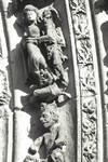 Leon Cathedral, Church of Santa Maria, Leon, Spain, detail of archivolt of central portal